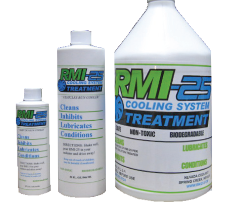RMI25 cooling system treatment